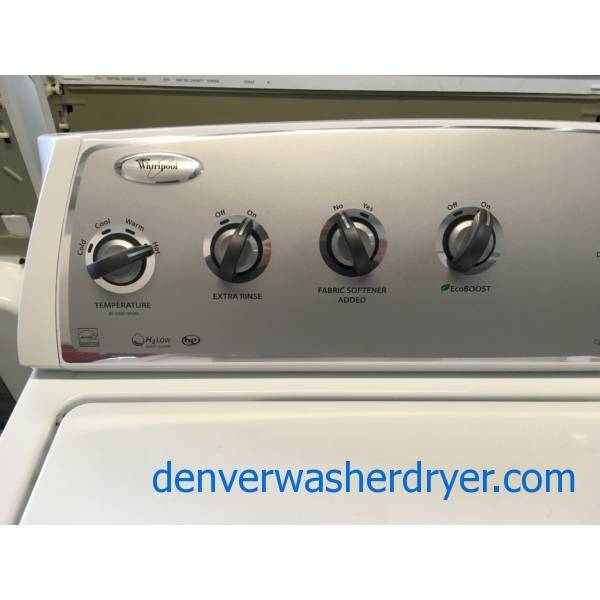 Whirlpool Top-Load Washer, HE, Wash-Plate Style, Auto-Load Sensing, Energy-Star Rated, Quality Refurbished, 1-Year Warranty!
