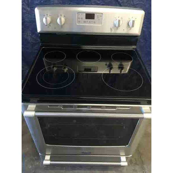 Barely used , glass top, Maytag Range with Aqua Lift Technology