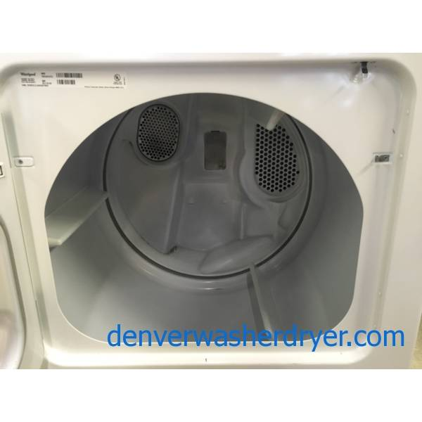 Whirlpool Washer and Dryer Set, Electric, Wrinkle Shield Option, 29″ Wide, Agitator, 3.4 Cu.Ft. Capacity, Quality Refurbished, 1-Year Warranty!