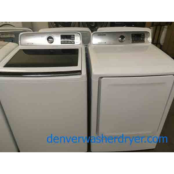Spacious Samsung Washer and Dryer set. With 1 year warranty