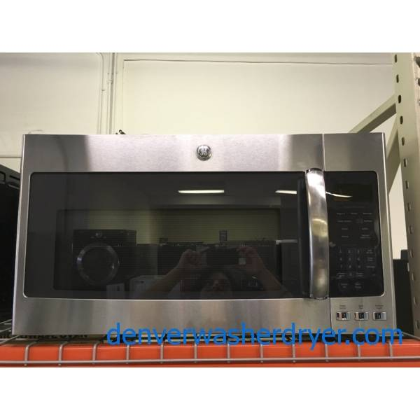 NEW!! GE Over-the-Range Microwave, Stainless, Sensor Cooking, Melt & Steam Features, 1.9 Cu.Ft. Capacity, 1-Year Warranty!