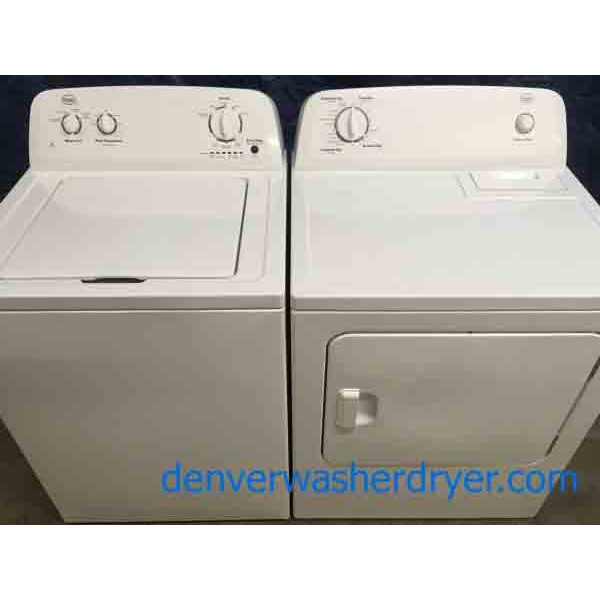 Matching Roper Whirlpool Full Sized Washer And Electric