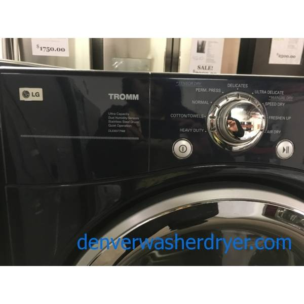 LG Navy Blue Front-Load Set, HE, w/ Pedstals, Steam, Sanitary and Anti-Bacterial Cycles, 220V, Wrinkle Care Option, Quality Refurbished, 1-Year Warranty!
