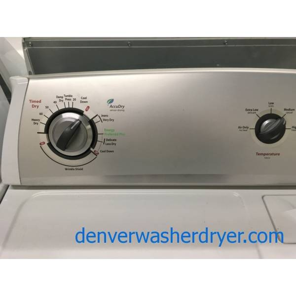 Whirlpool 29″ Wide Dryer, Electric, Wrinkle Shield Option, 7.0 Cu.Ft. Capacity, Hamper Style Door, Quality Refurbished, 1-Year Warranty!