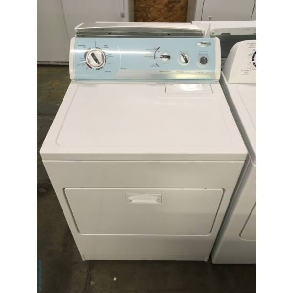 Whirlpool 29″ Wide Dryer, Electric, Automatic Dry, 7.0 Cu.Ft. Capacity, Wrinkle Shield Option, Hamper Style Door, Quality Refurbished, 1-Year Warranty!