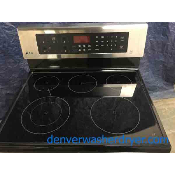 NEW!!! LG Glass-Top Range, 30″ Wide, 1-Year Warranty, Convection Oven