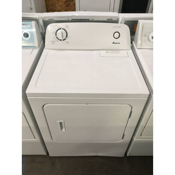 Amana 29″ Wide Dryer, Electric, Wrinkle Prevent Option, 6.5 Cu.Ft. Capacity, Barn Style Door, Quality Refurbished, 1-Year Warranty!