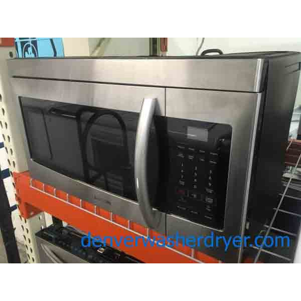 New-Stainless Samsung Microwave, Over-The-Range, 1-Year Warranty