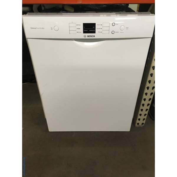 DUPE BOSCH 100 Series Dishwasher, White, Built-In, Tall Stainless Tub, 2 Racks, Sanitize Option, Energy-Star Rated, Quality Refurbished, 1-Year Warranty!