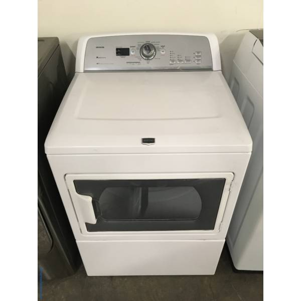 Maytag Bravos MCT Dryer, 27″ Wide, 220V, 7.4 Cu.Ft. Capacity, Sanitize Cycle, Wrinkle Prevent Option, Quality Refurbished, 1-Year Warranty!