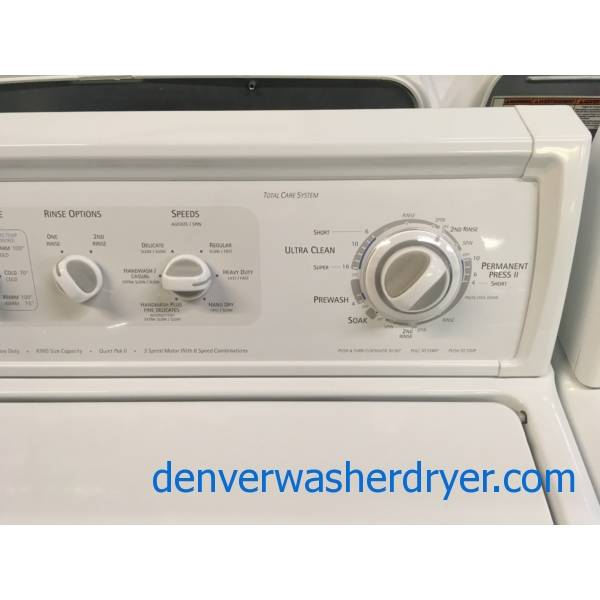 Heavy-Duty Kenmore ELITE Washer and Dryer Set, Agitator, Electric, Wrinkle Guard Option, 27″ Wide, Quality Refurbished, 1-Year Warranty!