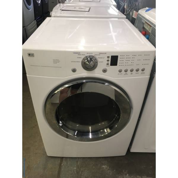 Magnificent LG Electric Dryer, Front-Load, White Stackable, Quality Refurbished, 1 Year-Warranty