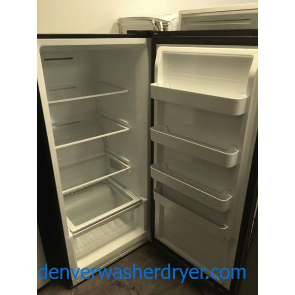 NEW!! Insignia Convertible Upright Freezer, Stainless, 13.8 Cu.Ft. Capacity, 4 Glass Shelves, Exterior Digital Control, 1-Year Warranty!