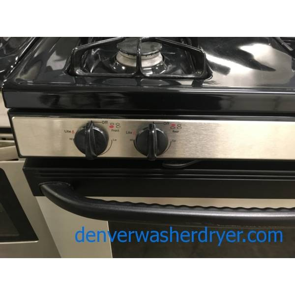 GE Stainless Steel Gas Stove and GE Dishwasher, Quality Refurbished, 1 Year-Warranty