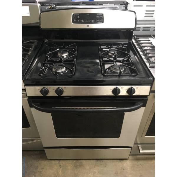 Righteous GE Stainless Steel Gas Stove, Quality Refurbished, 1 Year-Warranty