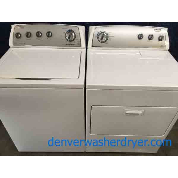 Energy Star Whirlpool Washing Machine With Matching Electric Dryer, 1-Year Warranty