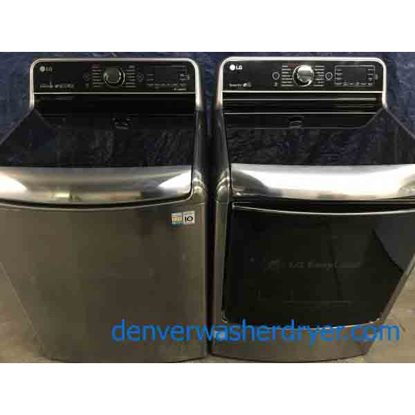 Mindblowing LG Washer Dryer Set, Electric, Silver/Grey, Steam, Dual-Open Door, 1-Year Warranty