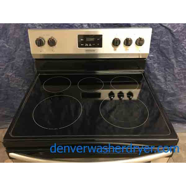 BrandNew Stainless Frigidaire GlassTop Stove with Convection Oven