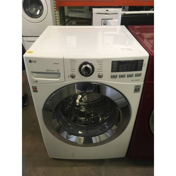 NEW! LG Front-Load Washer, HE, Steam Cycles, Sanitary and Allergiene Cycles, Energy-Star Rated, Smart ThinQ, Stainless Drum, 1-Year Warranty!