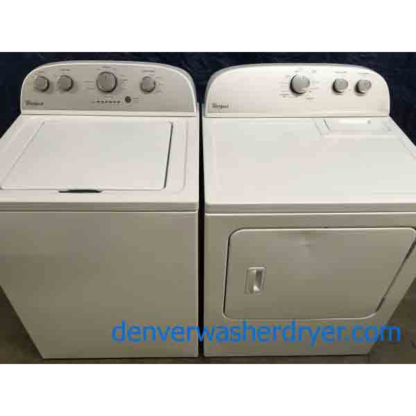 Modern Whirlpool Washer Dryer Set w/Agitator, Electric, Full-Sized, 1-Year Warranty!