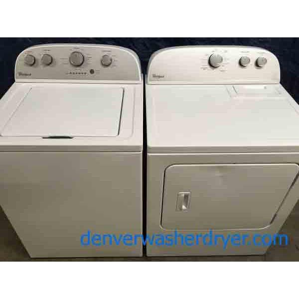 Modern Whirlpool Washer Dryer Set W Agitator Electric