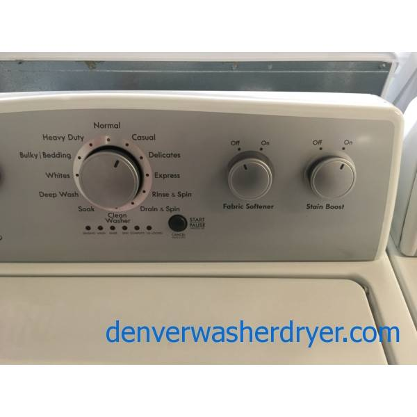 Lovely Kenmore 500 Series Set, HE, Electric, Wash-Plate Style, Auto-Load Sensing, Wrinkle Guard Option, Stain Boost, Quality Refurbished, 1-Year Warranty!