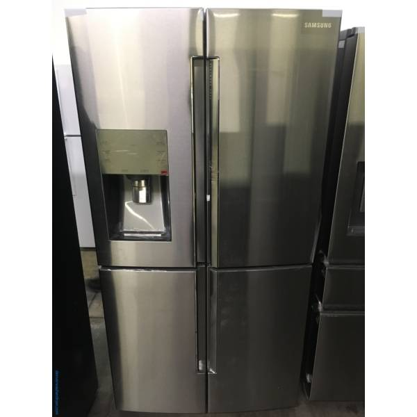 NEW!! SAMSUNG French-4 Door Refrigerator, Stainless, FlexZone, Food Showcase, Wine Rack, LED Lighting, Counter Depth, 1-Year Warranty!