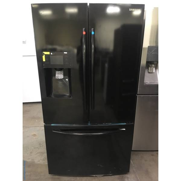 NEW! SAMSUNG Black French-Door Refrigerator, 24.6 Cu.Ft. Capacity, LED Lighting, CoolSelect Pantry, Energy-Star Rated, Ice/Water Dispenser, 1-Year Warranty!