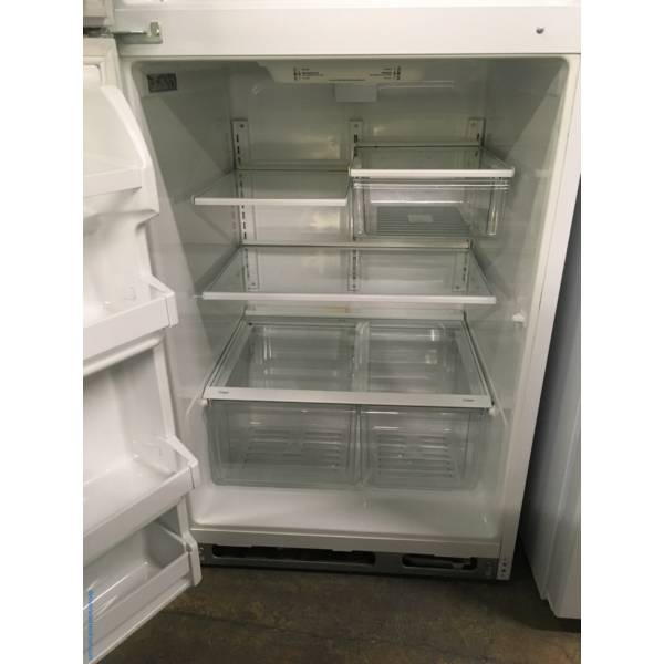 Whirlpool Top-Mount Refrigerator, Textured, White, 18.1 Cu.Ft. Capacity, 4 Glass Shelves, 30″ Wide, Quality Refurbished, 1-Year Warranty!