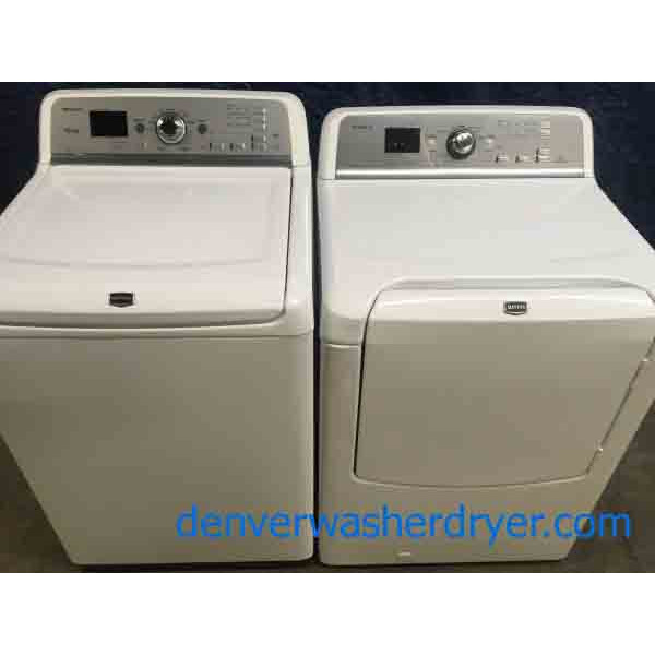 High-End Maytag Bravos Set, Direct-Drive, Gas Dryer, 1-Year Warranty!