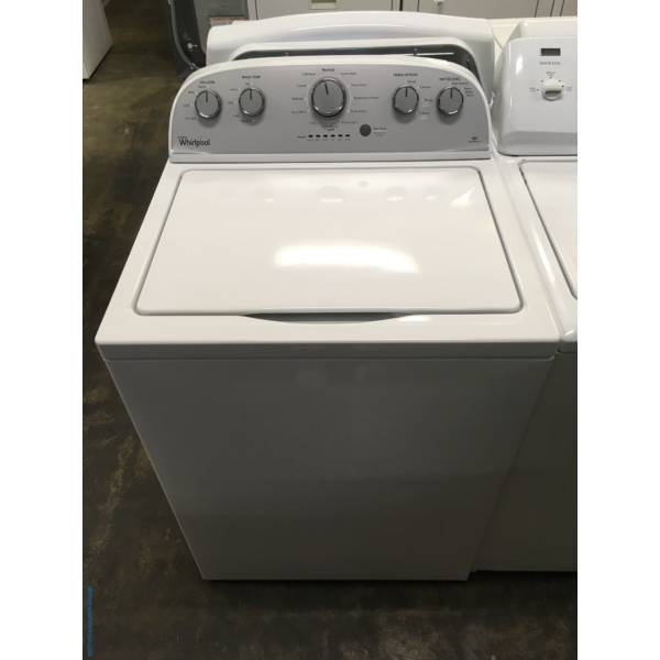 Lightly Used Whirlpool Top-Load Washer, Agitator, HE, Auto-Load Sensing, 3.5 Cu.Ft. Capacity, 28″ Wide, Quality Refurbished, 1-Year Warranty!