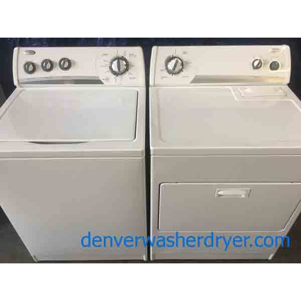 Whirlpool Washer & Electric Dryer Set, 1-Year Warranty