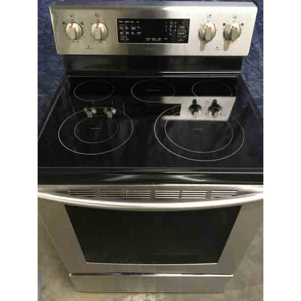 5 Burner Glass Top Convection Oven Used Stainless Range