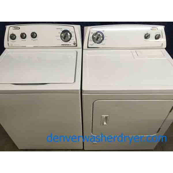 Whirlpool Washer, GAS Dryer Set, Modern, Energy Star, 1-Year Warranty