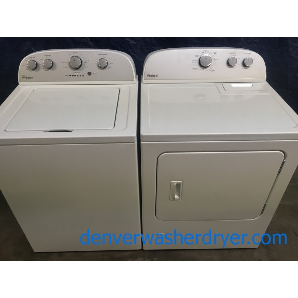 Whirlpool High Efficiency Washer, and Gas Dryer Set, 1-Year Warranty