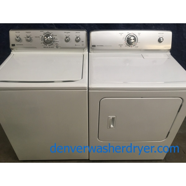 Heavy-Duty Maytag HE Washer, Electric Dryer, Energy Star, 1-Year Warranty
