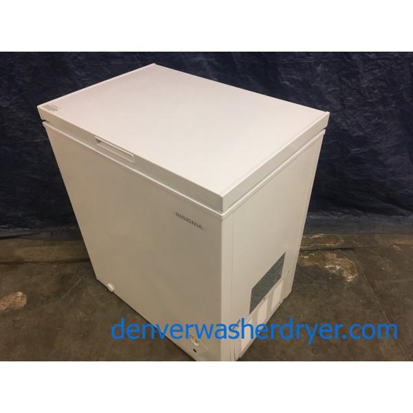 New Dent Insignia 5 0 Cu Ft Chest Freezer White