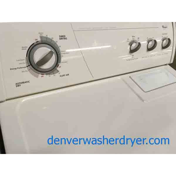 Whirlpool Washer Dryer Set Almond Colored 1 Year Warranty