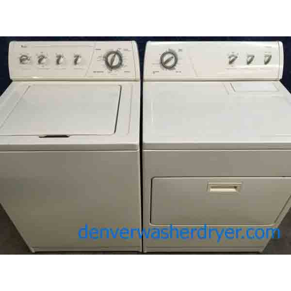 Whirlpool Washer & Dryer Set, Almond Colored, 1-Year Warranty