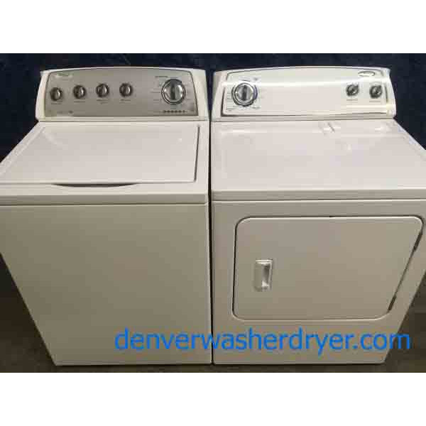 Whirlpool HE Washer (3.5 cu. ft.), and Dryer (7.0 cu. ft) Set, (Almost Matches), 1-Year Warranty