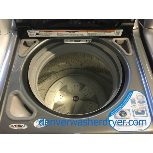 Whirlpool Cabrio Washer and Dryer Set, Graphite, Energy-Star Rated, HE, Sensor Drying, Active Wear Cycle, Quality Refurbished, 1-Year Warranty!