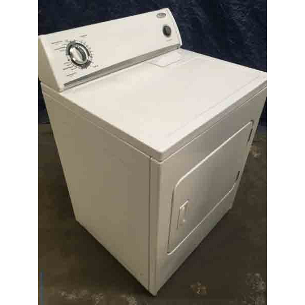 "Wonderful Whirlpool ""Flat-Back"" Dryer, Electric, Super Capacity, Quality Refurbished, 1-Year Warranty"