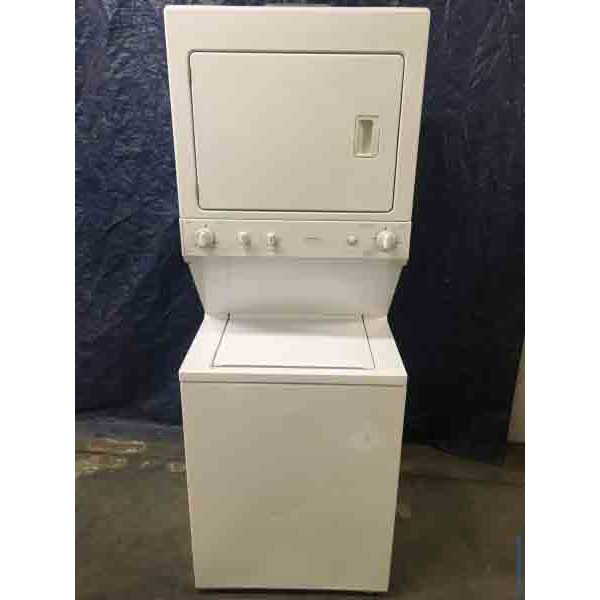 GE 27″ Space-Maker, Stacked Washer & Dryer Combo, 1-Year Warranty