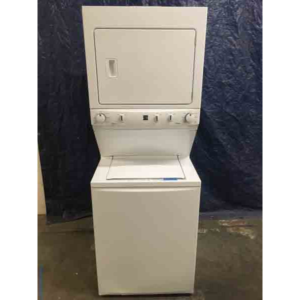New Kenmore 27″ Stacked Washer & Dryer Combo, 1-Year Warranty