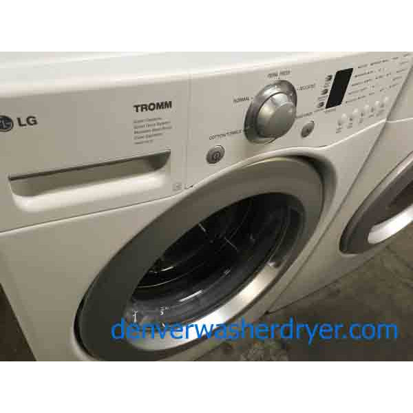 Lg Tromm White Front Loader And Stackable Washer