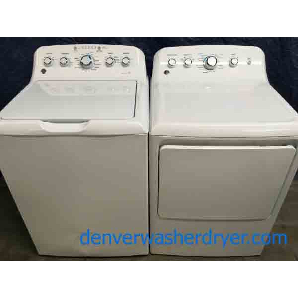 GE Top-Load Washer (New), and Gas Dryer Set, 1-Year Warranty
