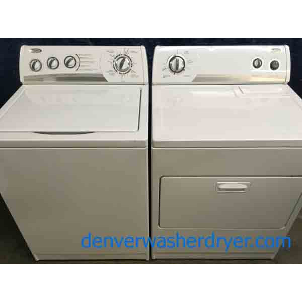 Whirlpool w/ Direct Drive, Washer & Dryer Set, 1-Year Warranty
