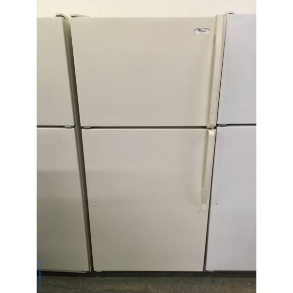 Whirlpool Top-Mount Refrigerator, Bisque, 5 Glass Shelves, Humidity Control Crispers, Quality Refurbished, 1-Year Warranty!