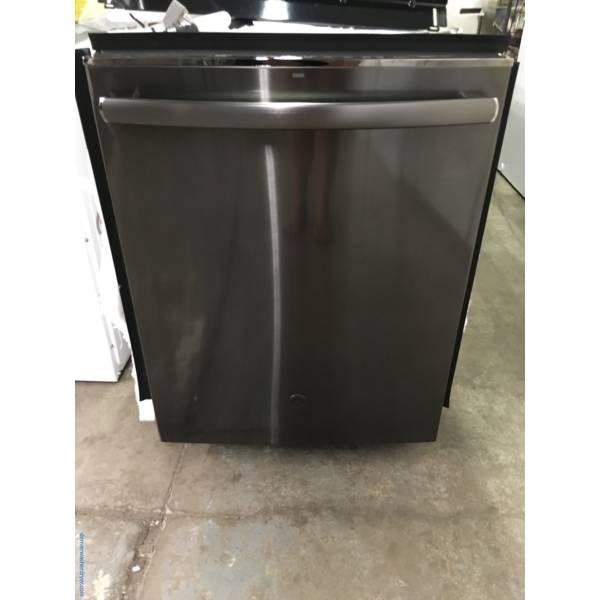 GE Black Stainless Dishwasher, Stainless Tub, Steam, Wash Zones, Sanitize, AutoSense, 3 Racks, Quality Refurbished, 1-Year Warranty!