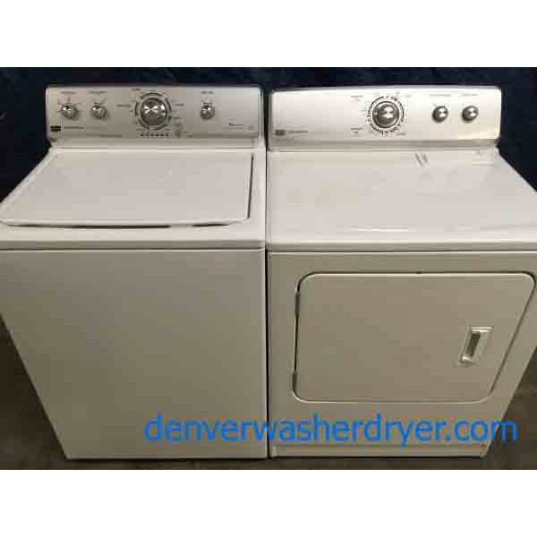 Maytag Centennial Commercial Technology Full Sized HE Washer & Dryer Set, 1-Year Warranty